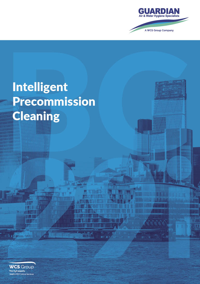 The cover of a guide to precommission cleaning